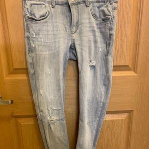 Zara distressed grey jeans (stretch)